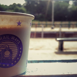 by Pravin Lelin - Food & Drink Alcohol & Drinks ( #coffee #cup #railways #focus #journey #travel )