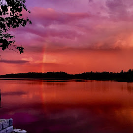 Rainbow Reflections  by Debbie Squier-Bernst - Landscapes Sunsets & Sunrises