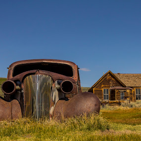 Bodie by Paul Scullion - Buildings & Architecture Public & Historical ( old, bodie, ghost, town, house, CARS, TRUCKS, TRANSPORTATION, HOT RODS, , time scars )