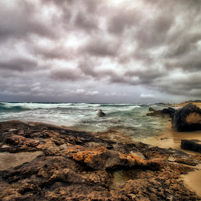 Beach by Cristobal Garciaferro Rubio - Landscapes Weather ( shore, water, clouds, cozumel, sea )