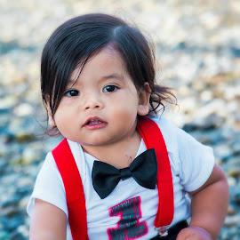 Sweet Isaiah by Jenny Hammer - Babies & Children Child Portraits ( birthday, one, baby, cute, boy )