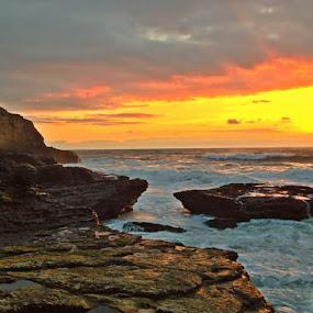 The Path Less Traveled by Derek Gibbins - Instagram & Mobile iPhone ( cliffs, tidepools, sunset, moss, ocean, beach )
