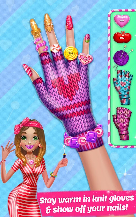 Candy Nail Art Sweet Fashion Screenshot