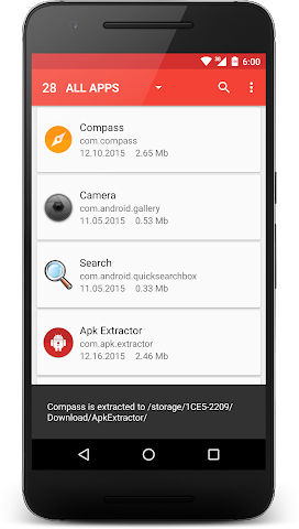android APK Extractor Screenshot 0
