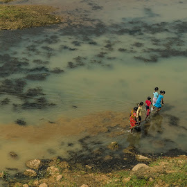 The Lost Trail by Arindam Mitra - People Street & Candids ( rural bengal, life of common people, hard lives, landscape photography, people & culture, travel photography, rural people & culture )