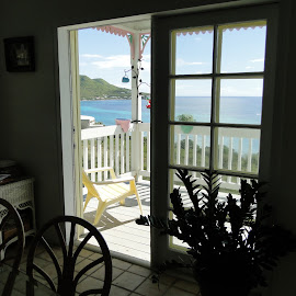 by Liz Rosas - Buildings & Architecture Homes ( coral, vacation, silhouette, st. croix, ocean, beach, caribbean, virgin islands )