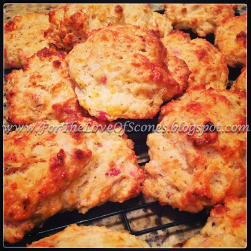 cheddar scallion scones with jalapeno agave butter roasted red pepper ...