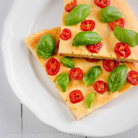 Gluten-Free Low-Carb Flat Bread, Focaccia or Pizza Crust