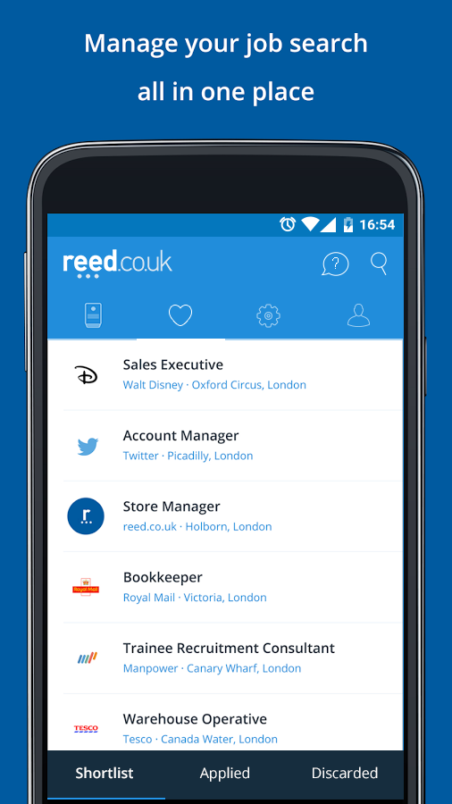 reed.co.uk Job Search Screenshot 2