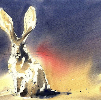 Hare rabbit painting art