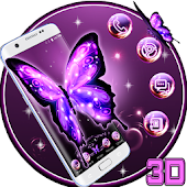 3D Neon Butterfly Theme APK for Blackberry