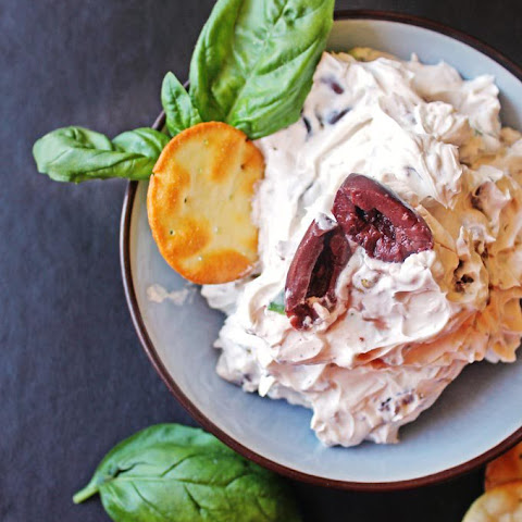 Olive Walnut Basil Cream Cheese