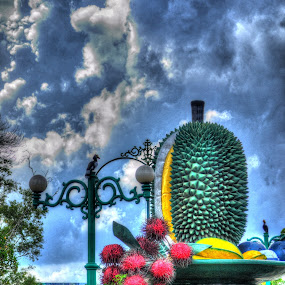 Bundaran Durian by Handy Nordy Fariza - Buildings & Architecture Statues & Monuments ( landmark, buah, bundaran, durian, landscape )
