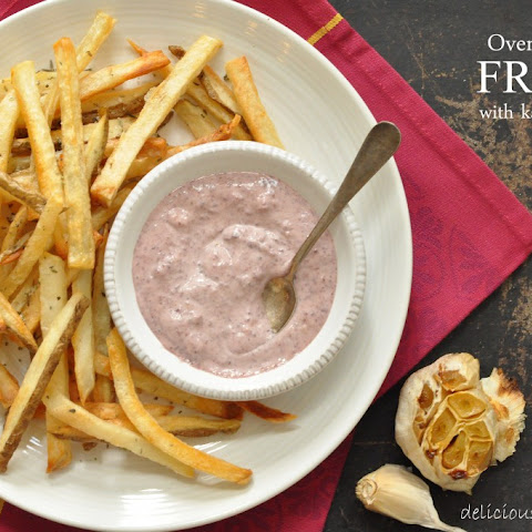 Oven Roasted French Fries with Kalamata Aioli