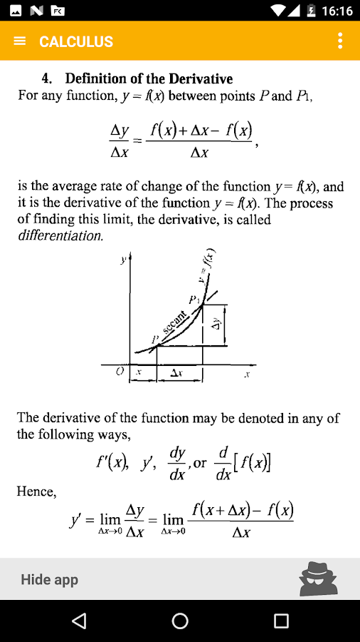 Math - complete pocket guide Screenshot 3