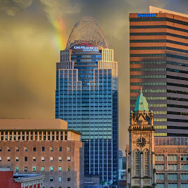 Rainbow by Richard Michael Lingo - Buildings & Architecture Office Buildings & Hotels ( ohio, office buildings, buildings, cincinnati, rainbow,  )