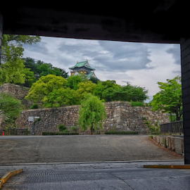 Osaka Castle in a Frame by Ferdinand Ludo - City,  Street & Park  Historic Districts ( may 2015, japan, osaka, frame in a frame, osaka castle )