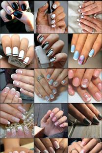 Идея дизайна ногтей на короткие ногти
