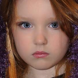 Fuzzy Scarf  by Cheryl Korotky - Babies & Children Child Portraits