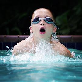 Breaststroke practice by Brett Skolmen - Sports & Fitness Swimming
