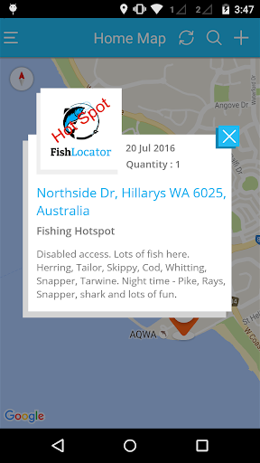 FishLocator - screenshot