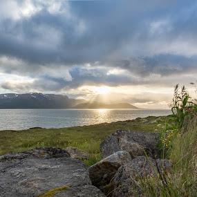 Sunset over Holm by Benny Høynes - Landscapes Sunsets & Sunrises ( sunset, weather, sea, landscapes, norway )