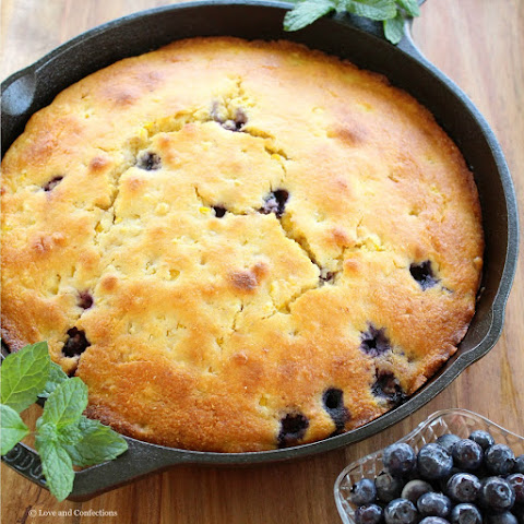 Skillet Sweet Corn Blueberry Cornbread
