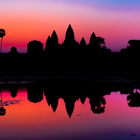 Angkor Wat Sunrise by Teus Renes - Buildings & Architecture Places of Worship ( buddhism, color, angkor, sunrise, wat, angkor wat )