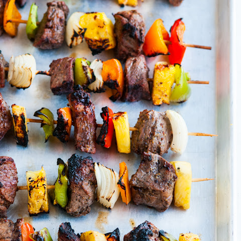 Grilled Pineapple Beef Kabobs