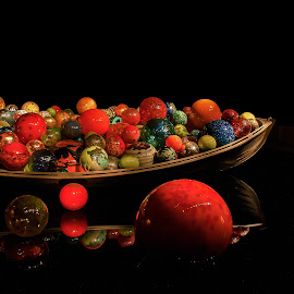 Beautiful Glass Balls by Joan Sharp - Artistic Objects Glass ( balls, chulily, glass, boat )