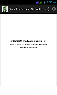 Sudoku Puzzle Secrets - screenshot