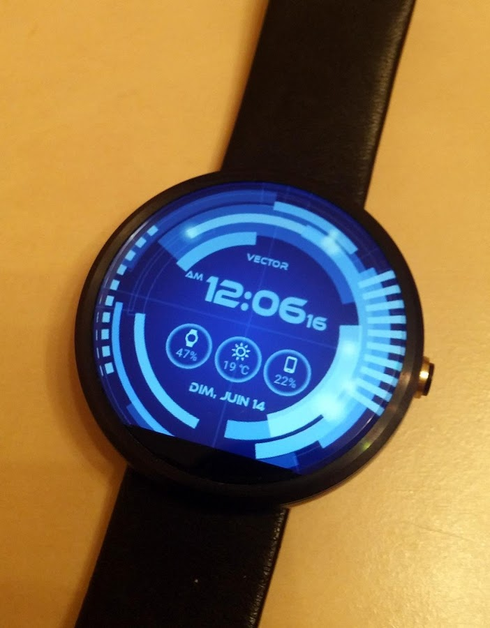 Vector GUI Watch Face Screenshot 3