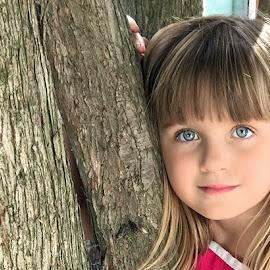 Grama's Tree by Luanne Bullard Everden - Babies & Children Child Portraits ( girls, children, trees, portraits, eyes )
