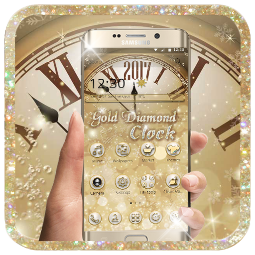 Gold Diamond Deluxe Clock (app)