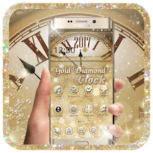 Gold Diamond Clock Theme