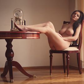 Time by Sergey Ostapovsky - Nudes & Boudoir Artistic Nude ( film photo )