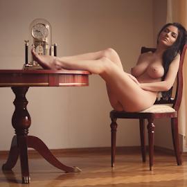 Time by Sergey Ostapovsky - Nudes & Boudoir Artistic Nude ( film photo )