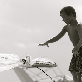 Casting the Net by Cathi Gardner Winborne - Babies & Children Children Candids
