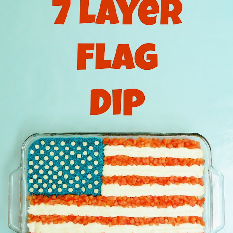 7 Layer Flag Dip for 4th of July!