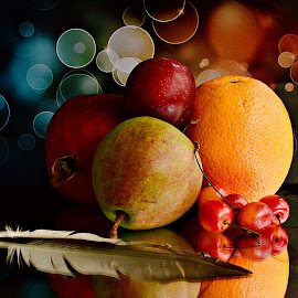 Still life with Fruits by Prasanta Das - Food & Drink Fruits & Vegetables ( colorful, still life, fruits )