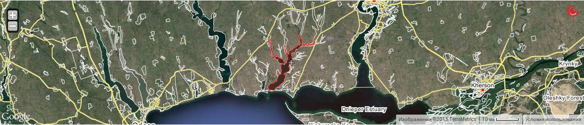 Березанский лиман карта