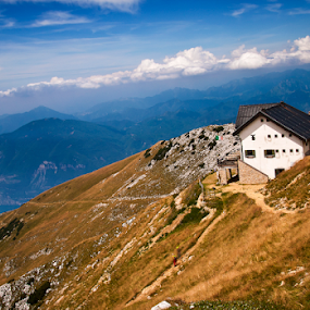 Lovely place for lunch by Giancarlo Ferraro - Landscapes Mountains & Hills ( shelter, altitude, fresh air, view, high,  )
