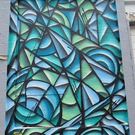Turquoise Abstracat by Rita Goebert - Abstract Patterns ( abstract wall art; outdoor art; wall therapy;rochester; new york; )