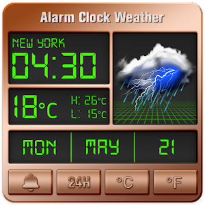 Alarm clock style weather widget For PC
