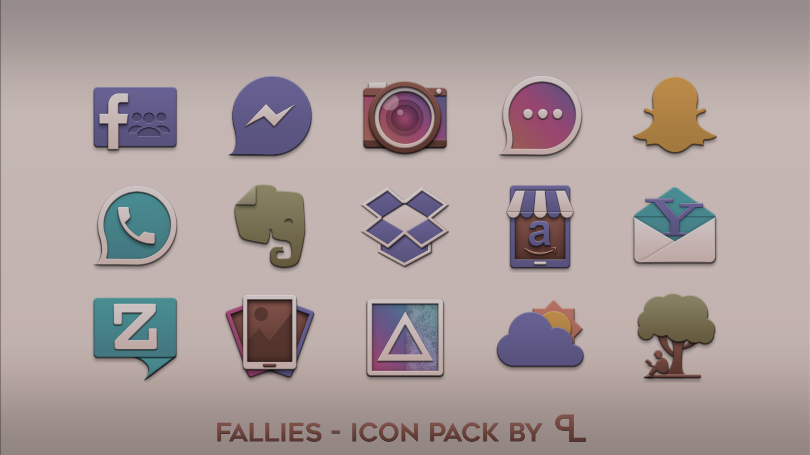 Fallies Icon pack - Chocolat Screenshot 2