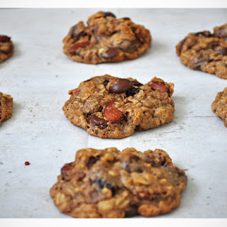 Gluten Free Chocolate Almond Cherry Oatmeal Cookies