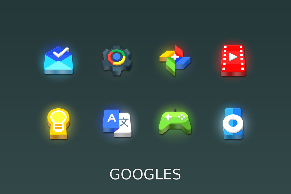 LED 3D Icon Pack Screenshot 12