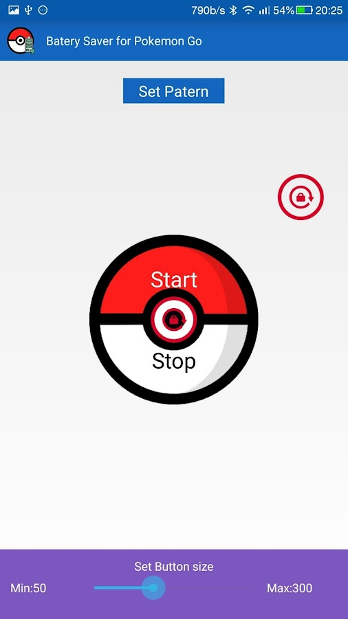 Battery Saver for Pokemon Go Screenshot 1