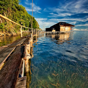 Sawai Village by Alvin Lee Hahuly - City,  Street & Park  Vistas