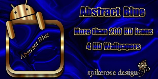 How to get Abstract Blue Go Launcher v.1.2. mod apk for pc